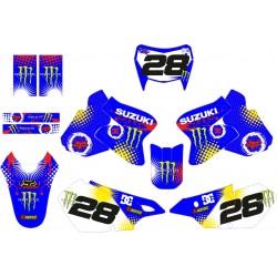 Kit Adhesivos Suzuki Monster Azul
