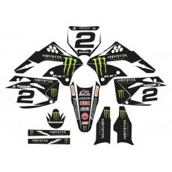 Kit Adhesivos Kawasaki Monster Black