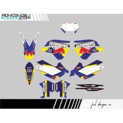 Kit Adhesivos Husaberg RedBull Azul Fe 2009-2012