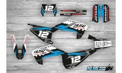 Kit Adhesivos Husqvarna TE-FE 2017-18 Racing!!! Negro/Blanco/Celeste
