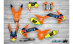 Kit Adhesivos KTM GoPro Naranja