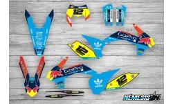 Kit Adhesivos KTM GoPro Celeste