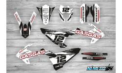 Kit Adhesivos GasGas EC 2018 Racing!!! Blanco/Negro