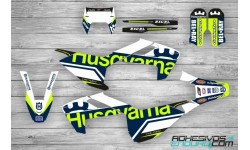 Kit Adhesivos Husqvarna TE-FE 2017-19 Edition Azul/Lima