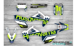 Kit Adhesivos Husqvarna Edition Azul-Lima Te/Fe 2020
