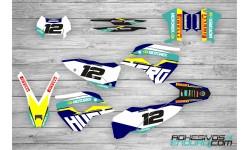 Kit Adhesivos Husaberg Motorex TE 2011-2012 2 Tiempos