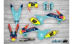Kit Adhesivos KTM GoPro Turquesa