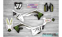 Kit Adhesivos Kawasaki Monster Blanco KXF 450 2019/21