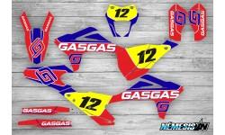 Kit Adhesivos GasGas EC 2021 Rojo/Azul
