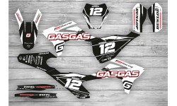 Kit Adhesivos GasGas EC 2021 Racing!!! Negro/Blanco