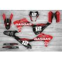 Kit Adhesivos GasGas EC 2021 Racing!!! Negro/Rojo