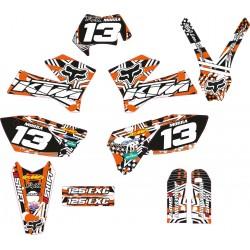 Kit Adhesivos KTM Fox KTM Naranja